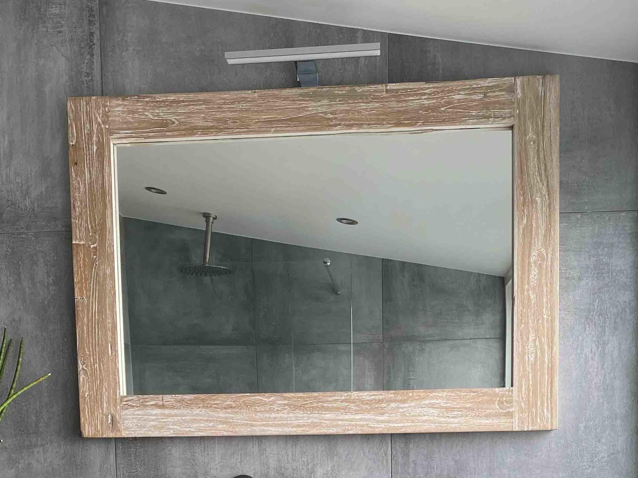 Spiegel 98x85x9cm White Wash - Teak