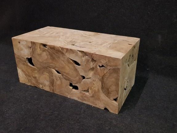 Houten kubus - salontafel 50x100x45cm  - RI2102-3