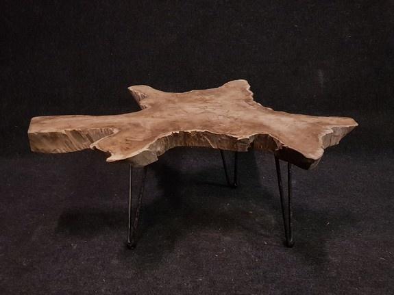 Salontafel 100x86x43cm op pinpoot - RI2102-43