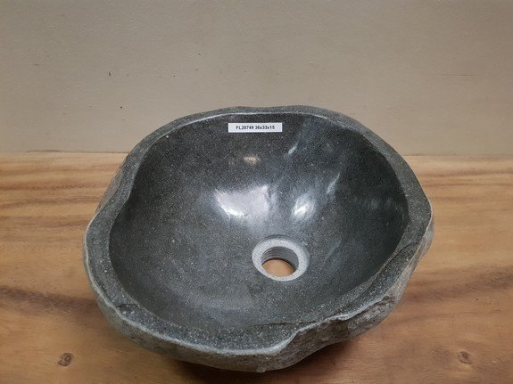 Waskom natuursteen FL20749 - 36x33x15cm