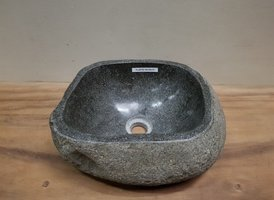 Waskom natuursteen FL20752 - 36x30x15cm