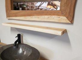 Wandplank / toilet plank Suar 80x15x3cm