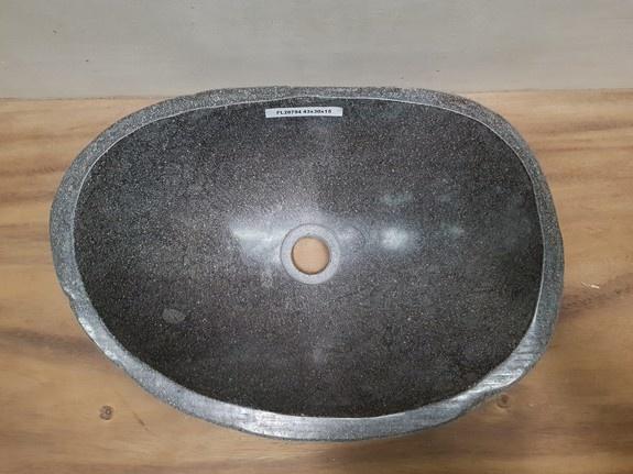 Waskom natuursteen FL20794 - 43x30x15cm