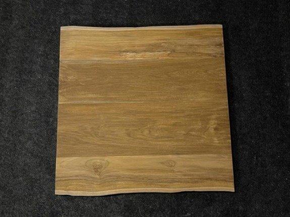 Teak boomstamtafel blad 80x80cm voor buiten