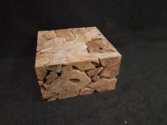 Houten kubus - salontafel 80x80x45cm  - RI2131-02