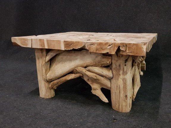 Teak salontafel 90x90x45cm  - RI2131-01