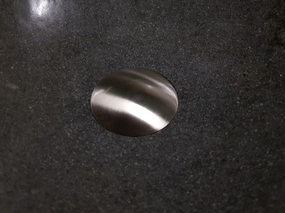 Differnz afvoerplug pop up, design, large mat chroom