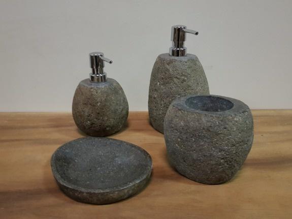 Badkamermeubel set 60cm naturel met kast, spiegel en waskom