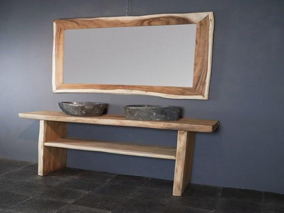 Suar badmeubelset 180cm incl  spiegel & waskom