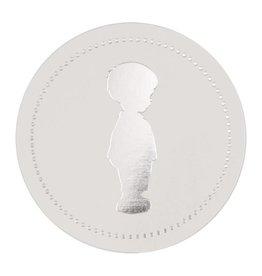 Buromac Pirouette Sluitzegels jongetje zilver