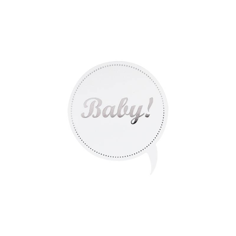 Buromac Pirouette Sluitzegels Baby Zilverfolie per vel van 10 stuks
