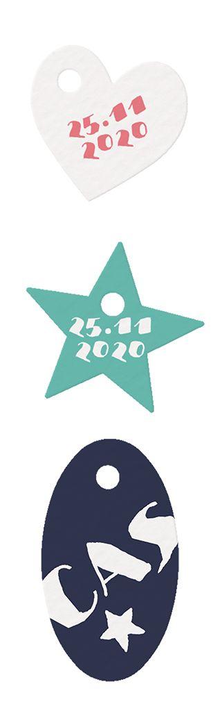 Belarto Welcome Wonder Geboortekaart van labels met silhouetje in meer kleuren (717040)