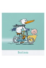 Belarto Welcome Wonder Geboortekaart met vrolijke beestenboel op parelmoerpapier (717053)