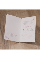 Belarto Welcome Wonder Geboortekaart in 'Bohemian Style' met modern veermotief en hartjes (717012)