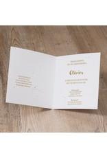 Belarto Welcome Wonder Geboortekaart op parelmoer papier met goudaccenten (717039)