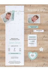 Belarto Welcome Wonder Geboortekaart met babyfoto, hip touw en labels (717034)