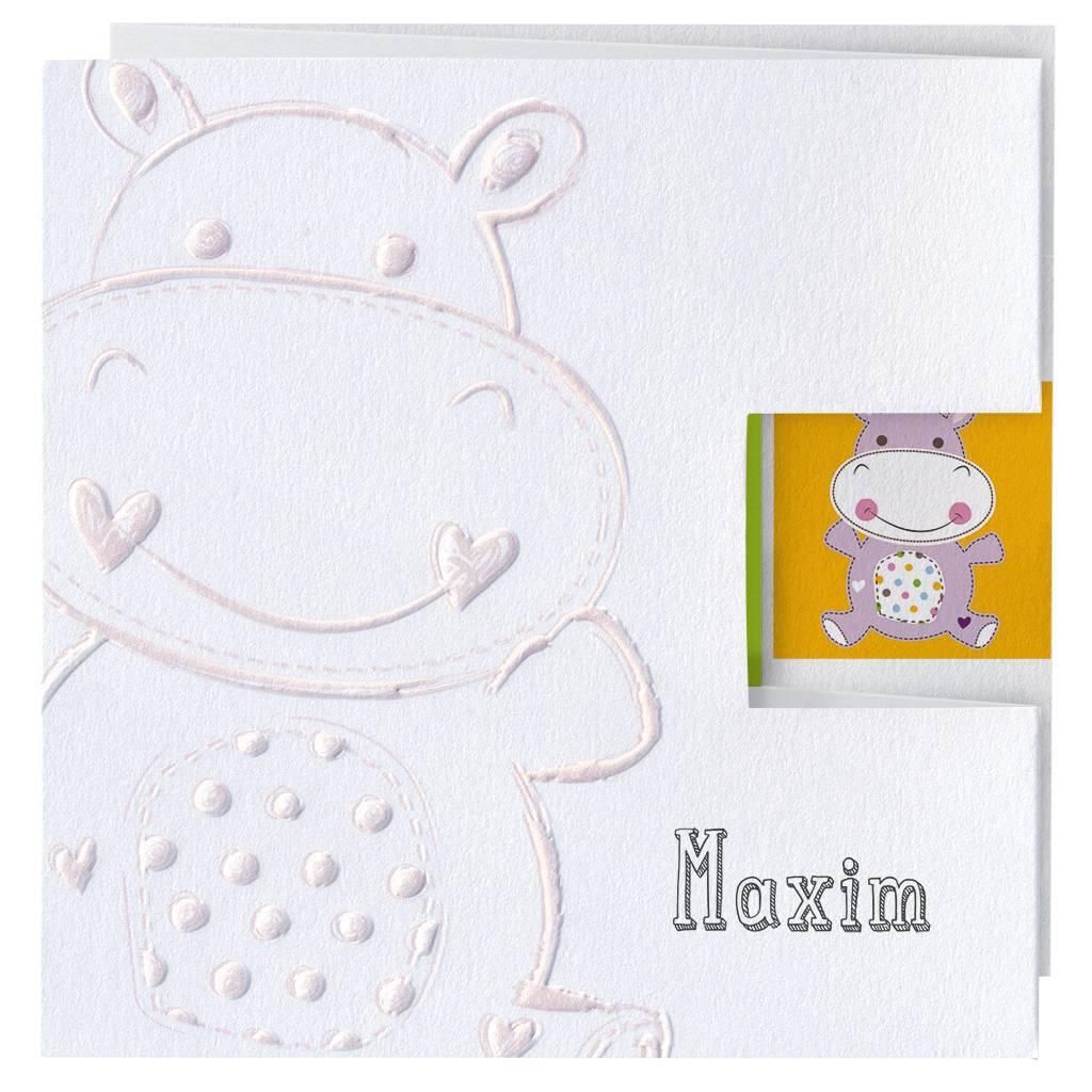 Belarto Welcome Wonder Geboortekaart met lieve diertjes (717036)