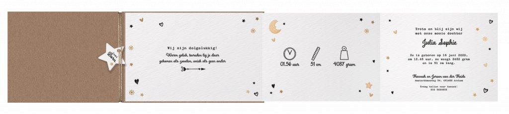 Belarto Welcome Wonder Geboortekaart met uittrekbaar inlegvel en labeltjes (717028)