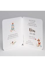 Buromac Pirouette Geboortekaart kleurrijke krans met bloemetjes en bosdiertjes (507092)