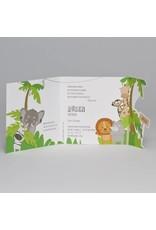 Buromac Pirouette Geboortekaart drieluik met jungledieren (507087)