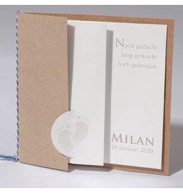 Familycards Klein Wonder Geboortekaartje Milan