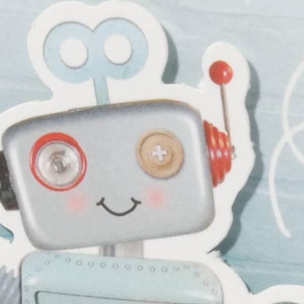Familycards Klein Wonder Geboortekaartje 'Robot' (63556)