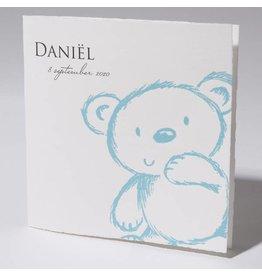 Familycards Klein Wonder Geboortekaartje 'blauwe beer'