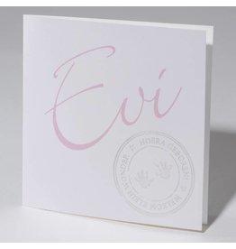 Familycards Klein Wonder Geboortekaartje Evi