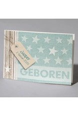 Familycards Klein Geluk Geboortekaartje 'trendy sterren' (66688)