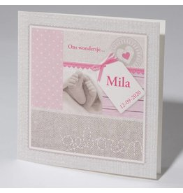 Familycards Klein Wonder Geboortekaartje Mila
