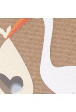 Familycards Klein Wonder Geboortekaartje 'ooievaar met baby' (63696)