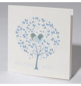 Familycards Klein Wonder Geboortekaartje 'Wensboom' Blauw