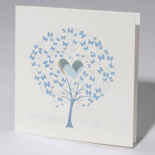 Familycards Klein Wonder Geboortekaartje 'Wensboom' Blauw (63706)