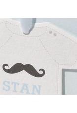 Familycards Klein Wonder Geboortekaartje 'rompertje aan blauw lint' (63708)