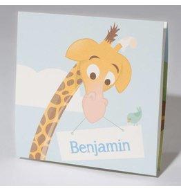 Familycards Klein Wonder Geboortekaartje Baby & Giraf