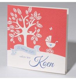 Familycards Klein Wonder Geboortekaartje Koen