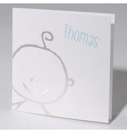 Familycards Klein Wonder Geboortekaartje met zilveren baby