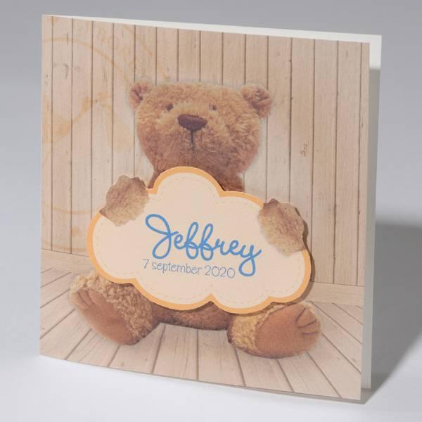 Familycards Klein Wonder Geboortekaartje 'Teddy beer' (63730)