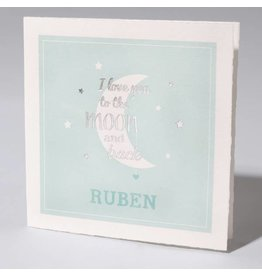Familycards Klein Wonder Geboortekaartje 'I love you to the moon and back'