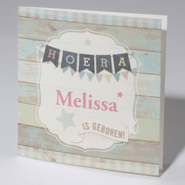 Familycards Klein Wonder Geboortekaartje Melissa (63745)