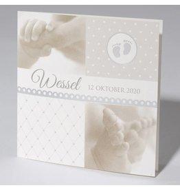Familycards Klein Wonder Geboortekaartje Wessel