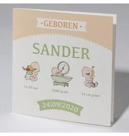 Familycards Klein Wonder Geboortekaartje Sander