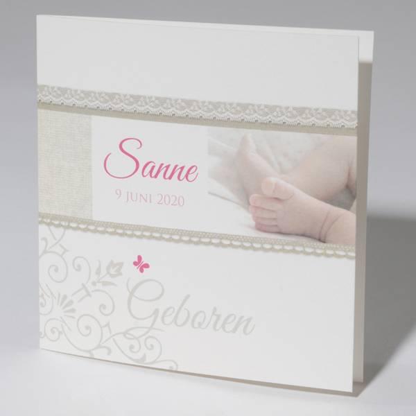 Familycards Klein Wonder Geboortekaartje Sanne (63764)