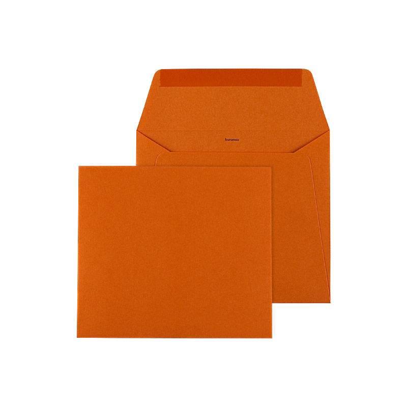 Buromac Pirouette Geboortekaart tipi in oranje en blauw (507130)