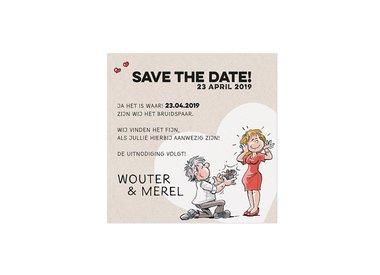Save-the-Date- en/of Bedankkaarten huwelijk