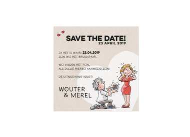 Save-the-Date- en/of Bedankkaarten