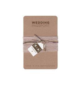 Belarto Bohemian Wedding Trouwkaart als paspoort inclusief boarding pass en bagagelabel