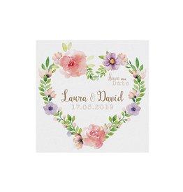 Belarto Bohemian Wedding Save the date bij trouwkaart met wikkel en bloemmotief