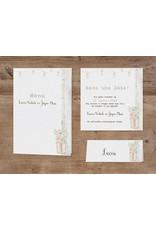 Belarto Bohemian Wedding Trouwkaart vintage met steigerhout en pop-up (727033)