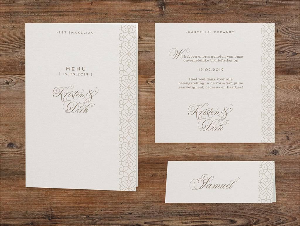 Belarto Bohemian Wedding Trouwkaart met voelbaar patroon en veertje (727028)